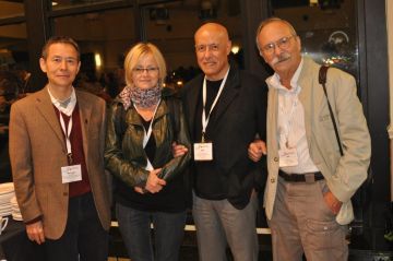 The newly elected Members of the Board of Officers of the RGFC: Menggui Jin (China), Judit Mádl-Szõnyi (Hungary), Joel José Carillo (Mexico), József Tóth (Canada)